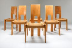 Scandinavian Modern Dining Chairs Set of Six 1970s - 1566201