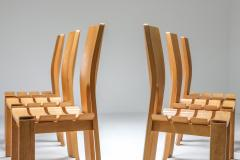 Scandinavian Modern Dining Chairs Set of Six 1970s - 1566202