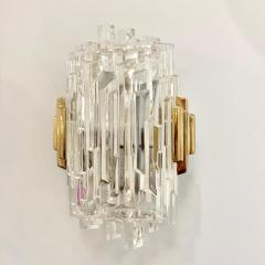 Scandinavian Modern Faceted Glass Sconces - 1152281