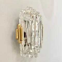 Scandinavian Modern Faceted Glass Sconces - 1152282