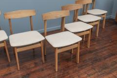 Scandinavian Modern Oak Dining Chairs - 1801115