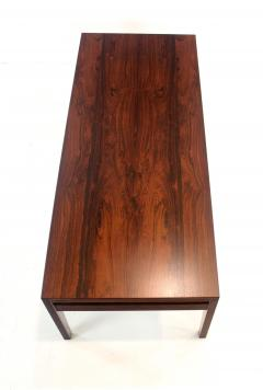 Scandinavian Modern Rosewood Coffee table w Pullouts on Each End - 1480621