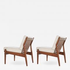 Scandinavian Modern Teak Slipper Chairs 1950s - 2053993