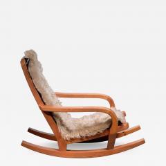 Scandinavian Modern pine rocking chair - 1992500