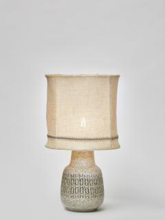 Scandinavian Speckled Ceramic Table Lamp with Original Shade - 1676343