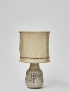 Scandinavian Speckled Ceramic Table Lamp with Original Shade - 1676344