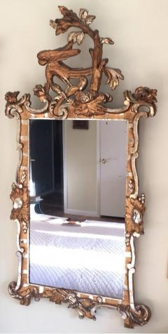 Schleswig Holstein 18th Century Giltwood Rococo Mirror with Ho Ho Bird - 1924825