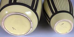 Schlossberg Keramik Two Schlossberg Keramik 1950s Pale Chartreuse Glazed Vases - 1989634