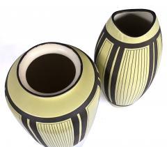 Schlossberg Keramik Two Schlossberg Keramik 1950s Pale Chartreuse Glazed Vases - 1989635