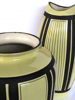 Schlossberg Keramik Two Schlossberg Keramik 1950s Pale Chartreuse Glazed Vases - 1989636