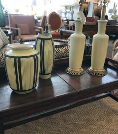Schlossberg Keramik Two Schlossberg Keramik 1950s Pale Chartreuse Glazed Vases - 1989637