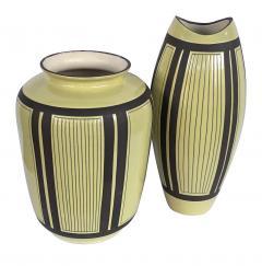 Schlossberg Keramik Two Schlossberg Keramik 1950s Pale Chartreuse Glazed Vases - 1989638
