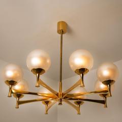 Sciolari Style Chandelier in Brass with Opaline Brass in the Style of Sciolari - 1164971