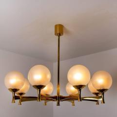 Sciolari Style Chandelier in Brass with Opaline Brass in the Style of Sciolari - 1164972