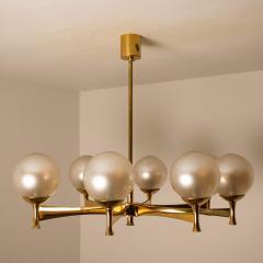 Sciolari Style Chandelier in Brass with Opaline Brass in the Style of Sciolari - 1164974