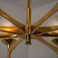Sciolari Style Chandelier in Brass with Opaline Brass in the Style of Sciolari - 1164975