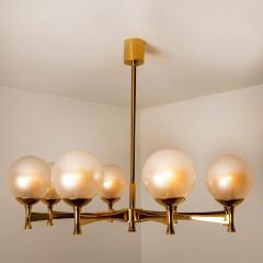 Sciolari Style Chandelier in Brass with Opaline Brass in the Style of Sciolari - 1164984