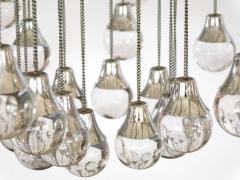 Sciolari Style Italian 1970s Gaetano Sciolari Style Chrome and Glass Ten Light Chandelier - 1958686