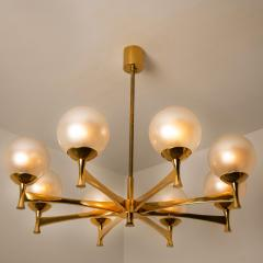 Sciolari Style Set of 3 Opaline Brass Light Fixtures in the Style of Sciolari 1960 - 1164950