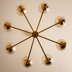 Sciolari Style Set of 3 Opaline Brass Light Fixtures in the Style of Sciolari 1960 - 1164954