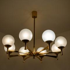 Sciolari Style Set of 3 Opaline Brass Light Fixtures in the Style of Sciolari 1960 - 1164955