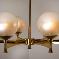 Sciolari Style Set of 3 Opaline Brass Light Fixtures in the Style of Sciolari 1960 - 1164956