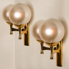 Sciolari Style Set of 3 Opaline Brass Light Fixtures in the Style of Sciolari 1960 - 1164960