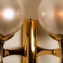 Sciolari Style Set of 3 Opaline Brass Light Fixtures in the Style of Sciolari 1960 - 1164961