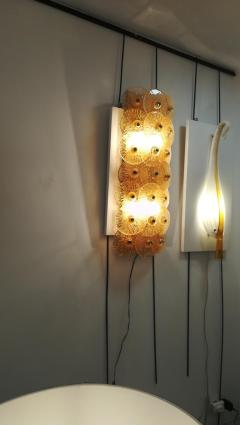 Sconce with golden crystal dics - 1096231