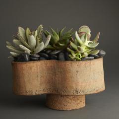 Sculptural Ceramic Vase in Earth Tones - 393595