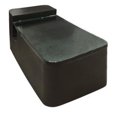 Sculptural Coffee Table in Black Lacquered Linen and Glass 1970s - 693984