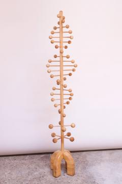 Sculptural Double Helix Maple Coat Tree - 1485174