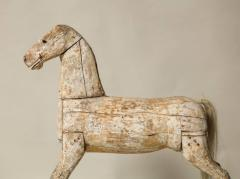 Sculptural Folk Art Rocking Horse in Original Chalk White Surface - 663763