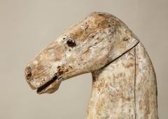 Sculptural Folk Art Rocking Horse in Original Chalk White Surface - 663764