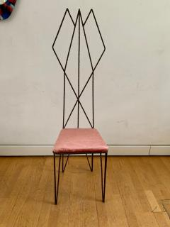 Sculptural Hight Back Chair and Side Table - 1979375