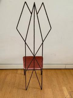 Sculptural Hight Back Chair and Side Table - 1979376