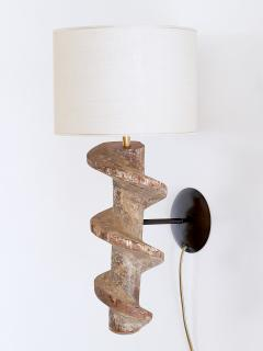 Sculptural Pair of Spiral Screw Wall Lamps in Hardwood Belgium 19th Century - 1409183
