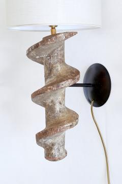 Sculptural Pair of Spiral Screw Wall Lamps in Hardwood Belgium 19th Century - 1409188