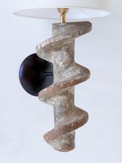 Sculptural Pair of Spiral Screw Wall Lamps in Hardwood Belgium 19th Century - 1409190