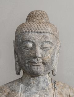 Sculpture of Buddha In The style Of the Tang And Wei Dynasties Sandstone - 2000729