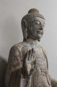 Sculpture of Buddha In The style Of the Tang And Wei Dynasties Sandstone - 2000732