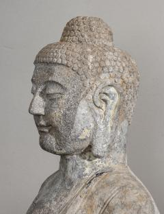 Sculpture of Buddha In The style Of the Tang And Wei Dynasties Sandstone - 2000733