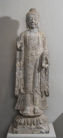 Sculpture of Buddha In The style Of the Tang And Wei Dynasties Sandstone - 2000735