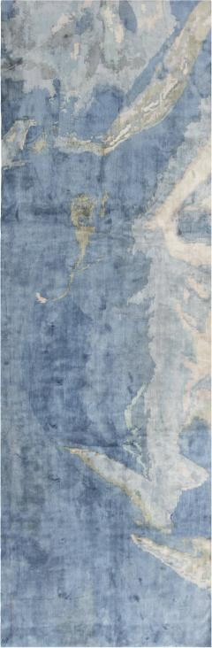 Sea and Sand Hand knotted Silk Runner - 1111487
