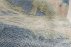 Sea and Sand Hand knotted Silk Runner - 1111494