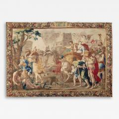 Second Half 17th Cent Brussels Tapestry of Marc Antony and Cleopatra Wool Silk - 2131709