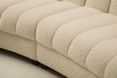 Segmented Curved Sofa in the Style of De Sede in Ivory Boucle Italy - 1953974