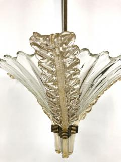 Seguso Fluted Glass Chandelier - 1282346