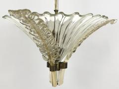 Seguso Fluted Glass Chandelier - 1282355