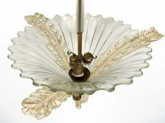 Seguso Fluted Glass Chandelier - 1282370